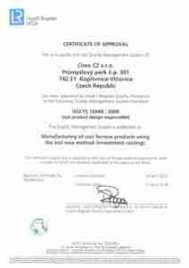 ISO/TS 16949 CZ CIREX