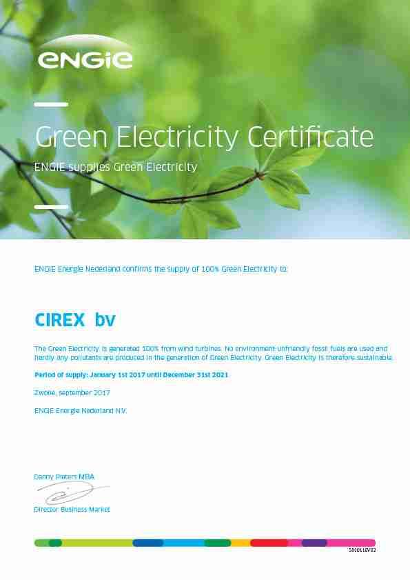 CIREX Green Electricity Certificate