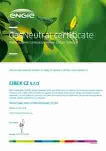 gas neutral certificate cirex